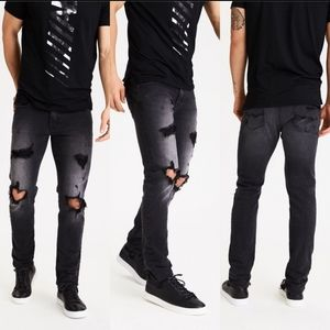 AEO Men's Extreme Flex 4 Distressed Skinny Jeans